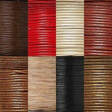 25 Yard 0.5mm Round Genuine Leather Bead Cord Cording For Beading & Jewelry