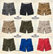 NWT Hollister Mens Cargo Shorts by Abercrombie Knee Length 2014 All Sizes Colors