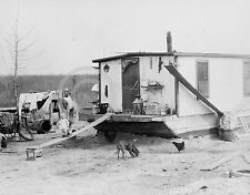1930 STRANDED HOUSEBOAT MISSISSIPPI LEVEE HINE PHOTO Largest Sizes