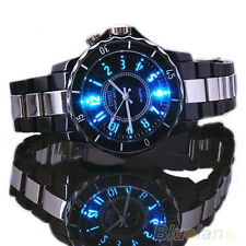 New Men Sport Style Ohsen Stainless LED Light Quartz Dial Clock Wrist Watch B88U