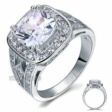 Art Deco 4 Ct Created Diamond 925 Sterling Silver Wedding Engagement Ring FR8091