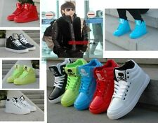 New Patent leather high-top men and women Hip-hop Ghost step dance Casual shoes!