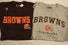 NFL TEAM APPAREL Cleveland Browns Mens M L or XL Shirt Gray or Brown Choice NWT