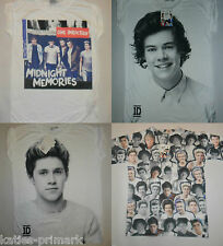 Primark Donna One Direction T Shirt Tee Top 6 -20 HARRY Loius Zayn Liam Niall