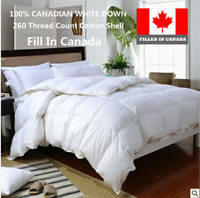 100% CANADIAN  WHITE DOWN DUVET COMFORTER  FILLED IN CANADA