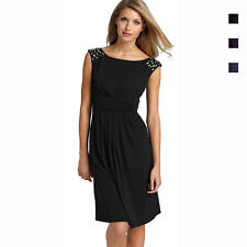 Fashion Sparkling Jewels Cocktail Party Matte Jersey Dress co5022