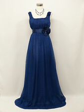 Cherlone Chiffon Blue Ball Formal Bridesmaid Wedding/Evening Prom Gown Dress