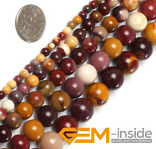 "Natural Stone Mookaite Jasper Round Beads For Jewelry Making 15""4mm 6mm 8mm 10mm"