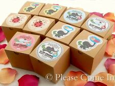 24 Personalized Baby Shower/Christening Favour Kraft Boxes