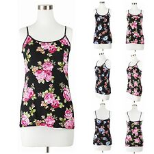 Womens Plus Size Camisole Tank Top Adjustable Straps Floral Pattern Comfy 1~3x