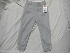 WILSON A4197 SILVER GREY YOUTH BASEBALL/SOFTBALL PANTS