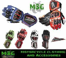 RST Tractech Evo 2579 Leather Race Sports Lined Motorcycle Gloves New