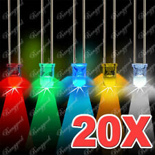 20PCS DIODO DIODI LED ALTA LUMINOSITA 4 COLORI SUPERBRIGHT 3000MCD 5MM NUOVO