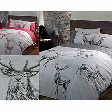HIGHLAND STAG DUVET COVER - Cotton Rich Quilt Cover Scandinavian Bedding Bed Set