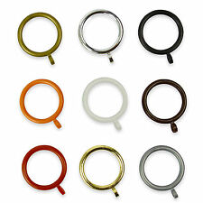 Plastic Curtain Rings for 28mm Poles - 6 Colours - Many Discount Pack Sizes