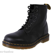 Genuine DR. MARTENS Doc AirWair Soft Leather 8 Up Ankle Boots 1460Z Black Cheap