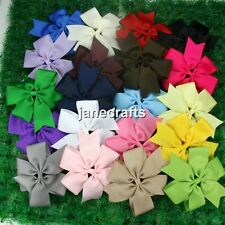 "20pcs 5"" Big Hair Bows Boutique Girls Baby Alligator Clip Grosgrain Ribbon Mixed"