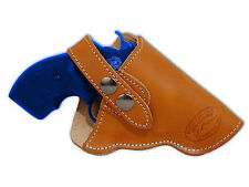 "NEW Barsony Tan Leather OWB Gun Holster for S&W 22 38 357 Snub Nose 2"" Revolvers"