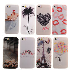 NEW FASHION PAINTED VARIOUS PATTERN HARD BACK CASE COVER FOR APPLE IPHONE 5G 5S