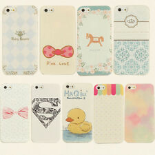 VARIOUS PAINTED PATTERN HARD BACK SKIN CASE COVER FOR APPLE IPHONE 5G 5S W/ FILM