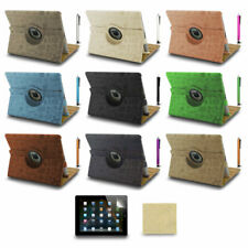 Cartoon 360 Rotating Leather Case Smart Cover for ipad 4 3 2 + Stylus Pen + Film