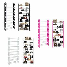 10 Tier Shoes Heels Storage Organiser Stand Shelf Rack Holds 30 Pairs Shoes