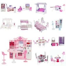 Luxury Plastic Furniture Play Set for Barbie Dolls House Kitchen Bathroom etc
