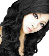 Fashion Women Long Curly hair Front Lace Hair Full wig Cosplay Wigs +Wig Cap