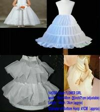WHITE FLOWER GIRL BRIDAL GOWN DRESS SHORT PETTICOAT UNDERSKIRT CRINOLINE SKIRT