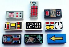 LEGO TILES PRINTED  DECORATED SIZE 1X2