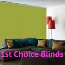 TOP QUALITY MADE TO MEASURE BLACKOUT VERTICAL BLINDS LIME GREEN KIWI ENVY