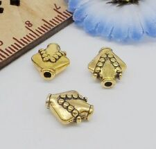Wholesale 50/200Pcs Gold Plated Spacer Beads 10x9x5mm Free Ship