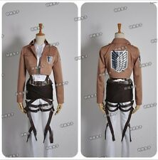 Attack On Titan Levi Eren Jaeger/Mikasa Ackerman Cosplay Costume Uniform CC162
