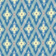 Dolls House Wallpaper 1/12th 1/24th scale Blue Quality Paper #232