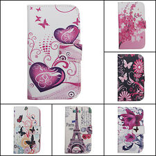 Cuir PU Portefeuille Support Housse Etui Coque Case Pr Samsung S3 S4 iPhone 4 5S