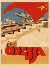 See Odessa City in Ukraine Ship Travel Tourism Vintage Poster Repro FREE S/H