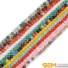 3mm Round Faceted Jewelry Making Loose gemstone Seed Beads Strand 15""