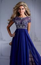 2014 Royal Blue Formal Evening Party Dresses Pageant Prom Dress Gown