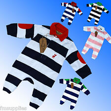 Rugby Style Baby Boys Girls Romper Suit All in One Newborn 0 3 6 12 Months