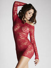 Ann Summers Womens Britney Red Lace Dress Sexy Bodycon Lingerie Underwear New
