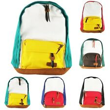 Brand New Multicolor Unisex School Campus Book Backpack Bag Canvas 5 Colors