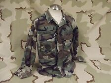 USGI Woodland BDU Camo Coat/Shirt Army Surplus Hunting Jacket Good Cond.