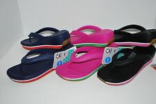 NEW NWT CROCS RETRO FLIP FLOPS WEDGE 7 8 9 10 women shoes NAVY PINK BLACK