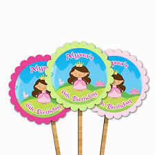 30 Cupcake Toppers With Picks Princess Storybook Birthday Party Girl Kids