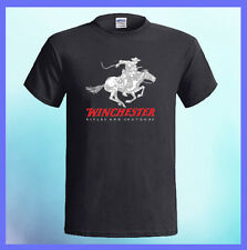 WINCHESTER Rifle Firearm Pistol Logo NEW Men's Black T-Shirt S M L XL 2XL 3XL
