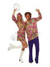 Adult Hippie Girl Fancy Dress Costume 60s 70s Hippy Flower Power Sexy Ladies BN