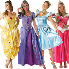 Licensed Disney Princess Deluxe Ladies Fairytale Adult Fancy Dress New Costume