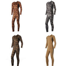 Men Digital Camo Military Tactical Thermal Long Johns Top & Bottom Underwear Set