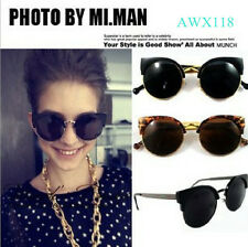 Latest Trends Design Fashion Super Round Metal Circle Cat Eye Retro Sunglasses