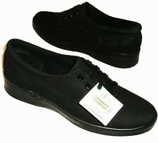 NEW Women's GRASSHOPPERS JENSEN Black Stretch Buck Casual/Comfort Sneakers Shoes